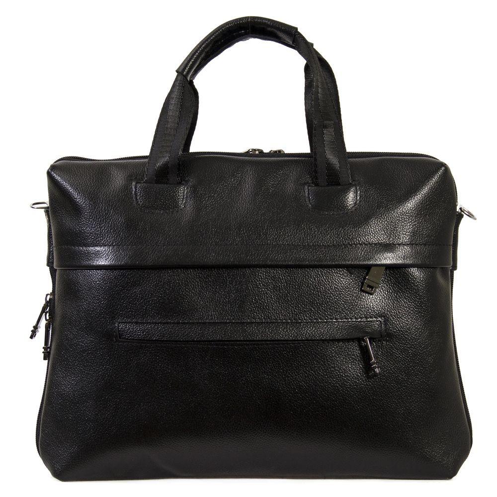 Мужской  портфель кожаный Vesson 4451 черный