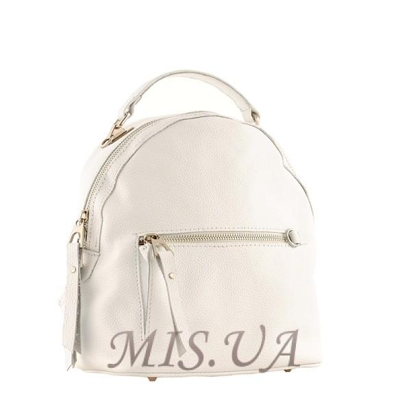 Рюкзак-сумка кожаный МІС 2537 белый