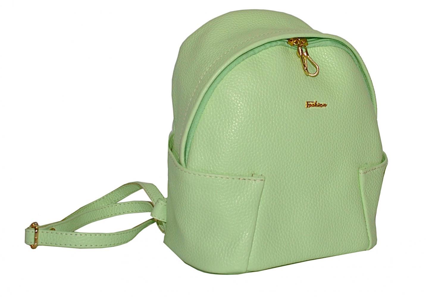 Кожаный рюкзак 2517 мятный