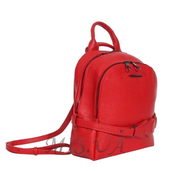 Городской кожаный рюкзак МIС 2636-1 красный