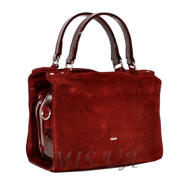Купить бордовую замшевую женскую сумку 0661 c доставкой по Украине ... a7bbe4951a59b