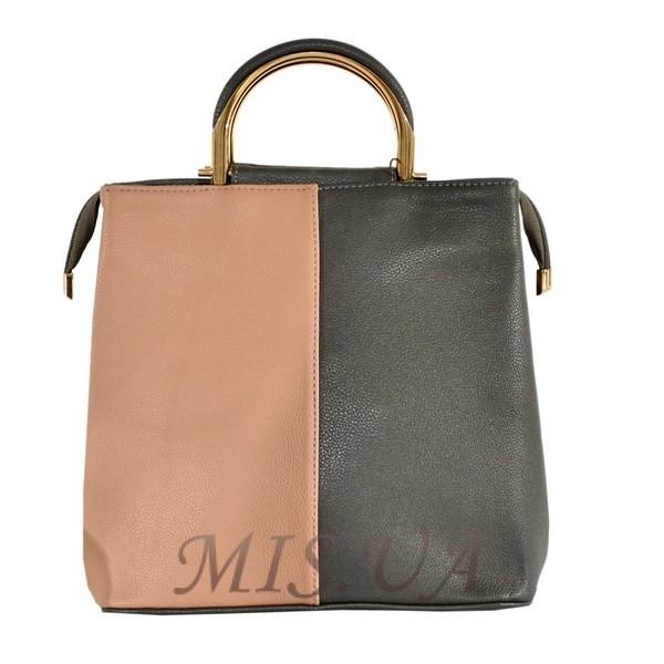 Женская сумка 35596-1 серая комбинированная