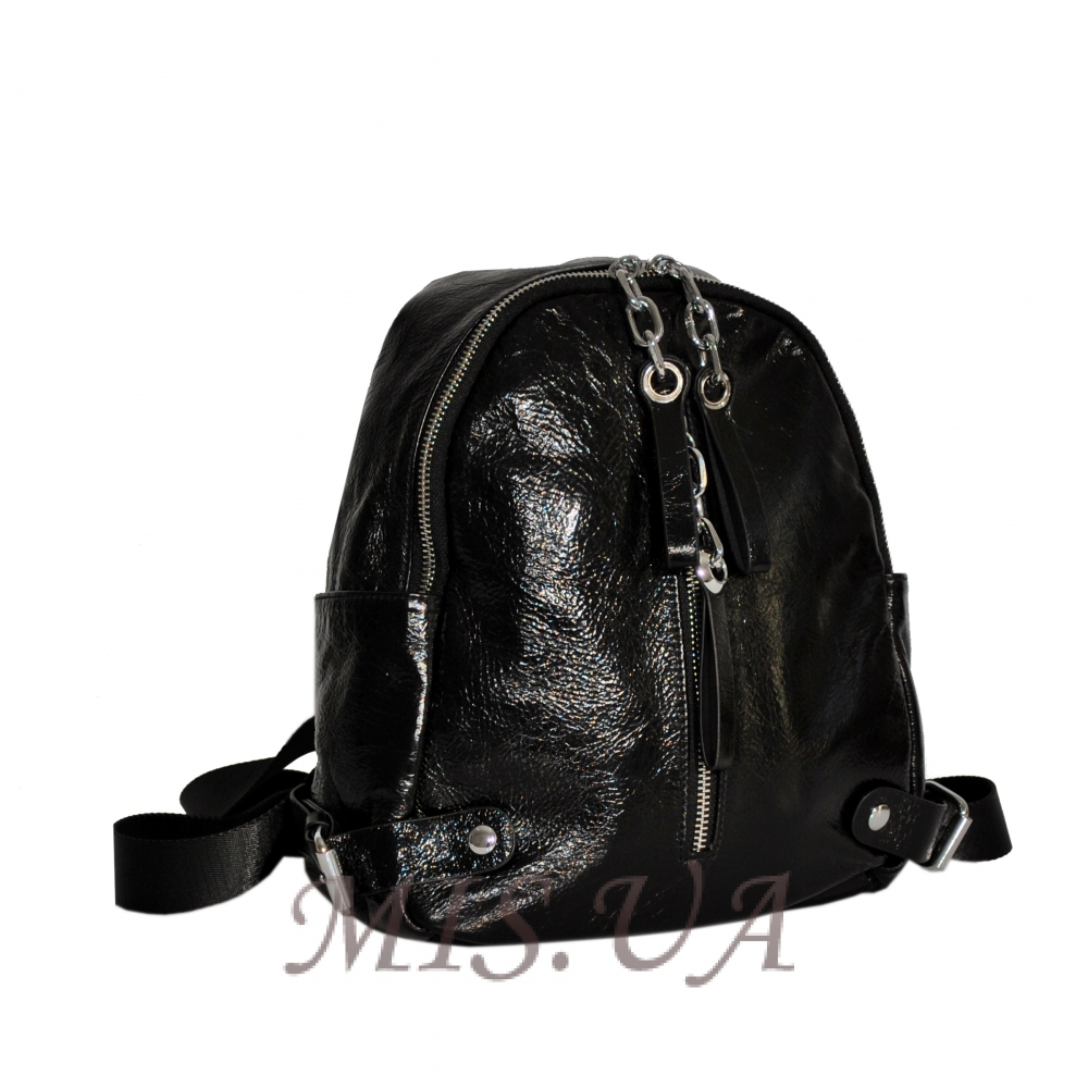 Женский кожаный рюкзак 381995 черный