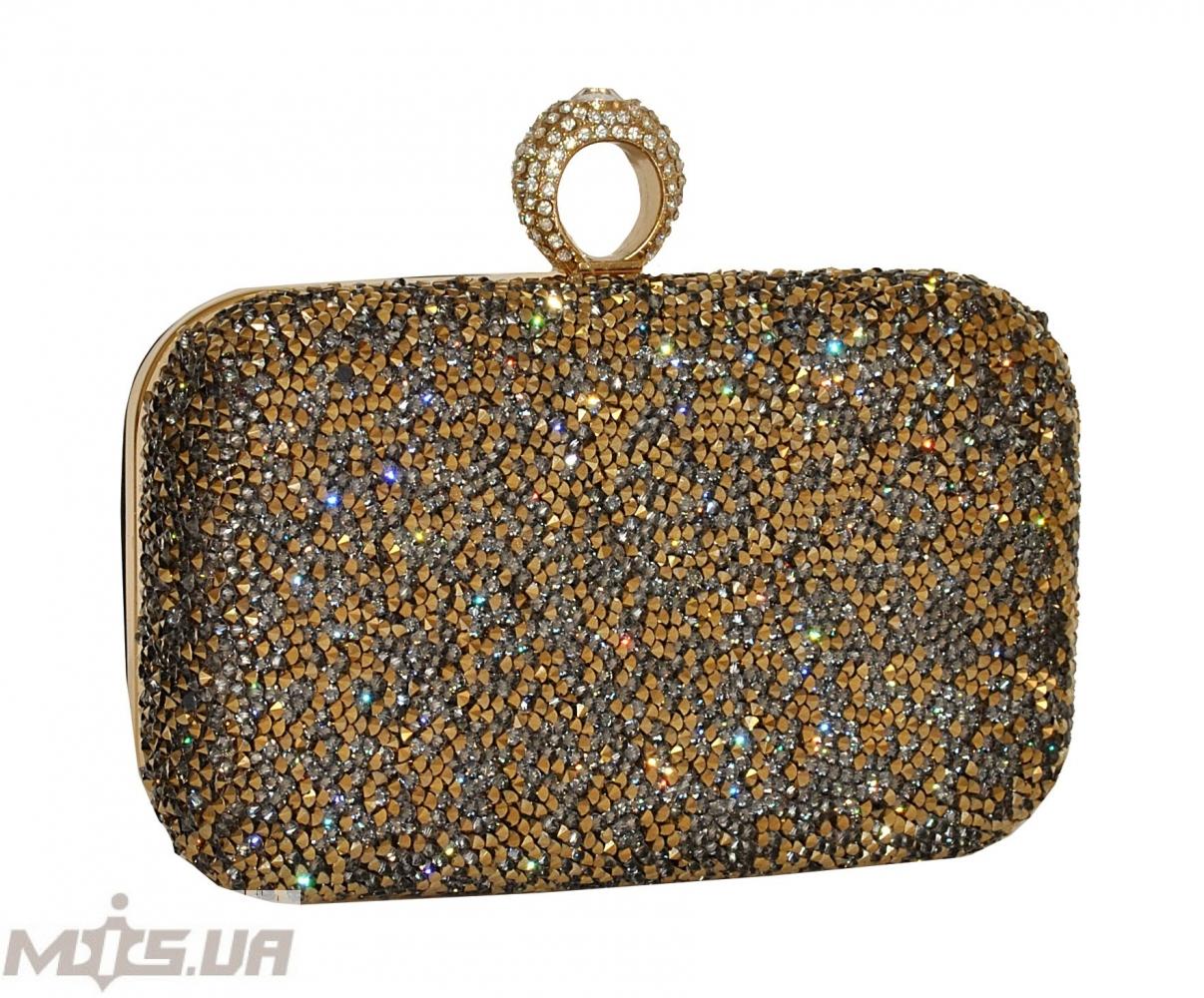 Женский клатч 382111 золотистый