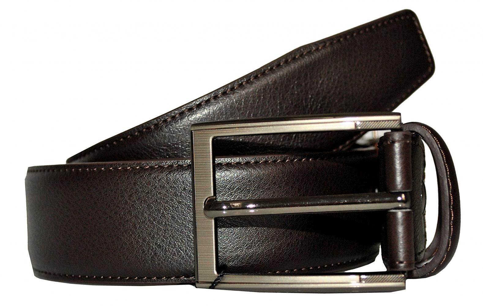 Мужской ремень 16671 коричневый