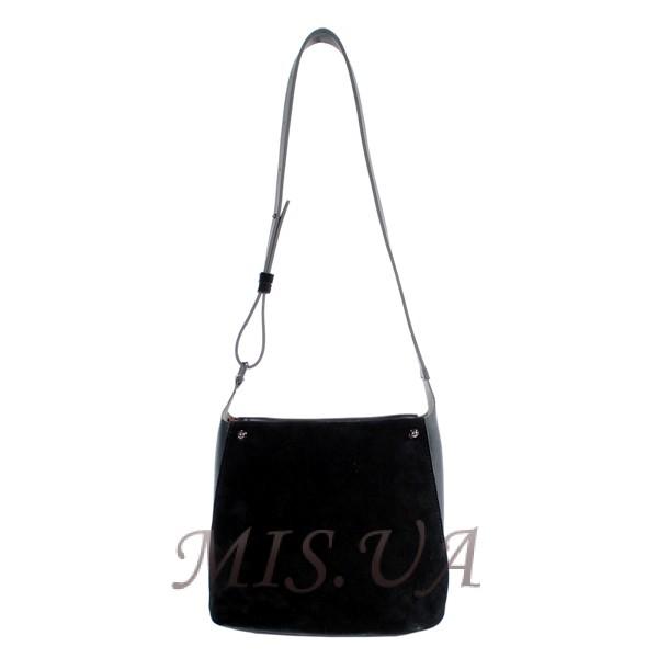 Жіночам замшева сумка MIC 0713 чорна