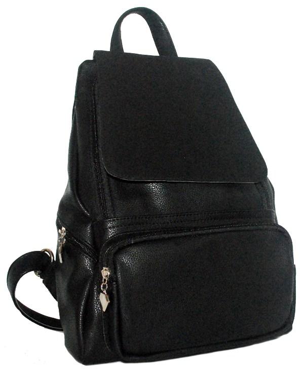 52f58f04f815 Купить черный женский рюкзак с замшевым клапаном 32867 c доставкой ...