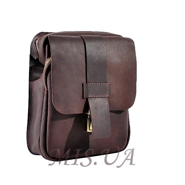Мужская кожаная сумка Vesson 4563 коричневая