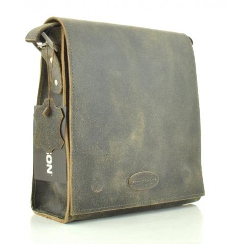 Мужская кожаная сумка 4230 хаки