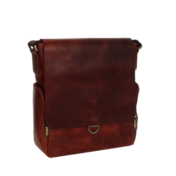 Мужская кожаная сумка Vesson 4623 рыжая