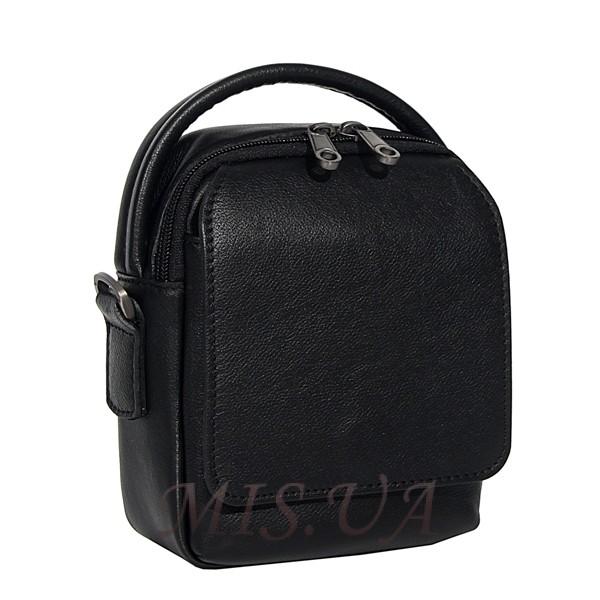 Men's leather bag 4604 black
