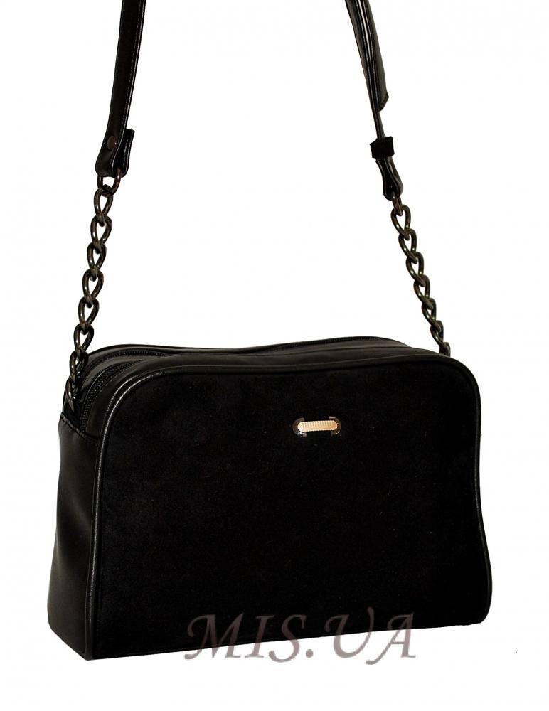 1982e9799806 Купить черную замшевую женскую сумку 0674 c доставкой по Украине ...