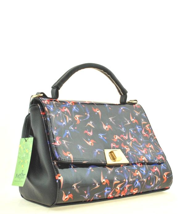 5910aae2eaab Купить черную женскую сумку 35291с цветным принтом c доставкой по ...