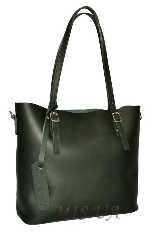 Женская сумка 2503 темно-зеленая