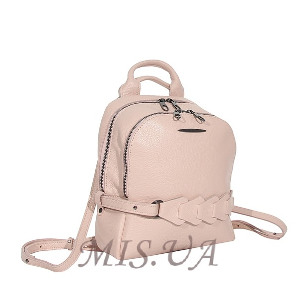 Городской кожаный рюкзак МIС 2636-1бежевый