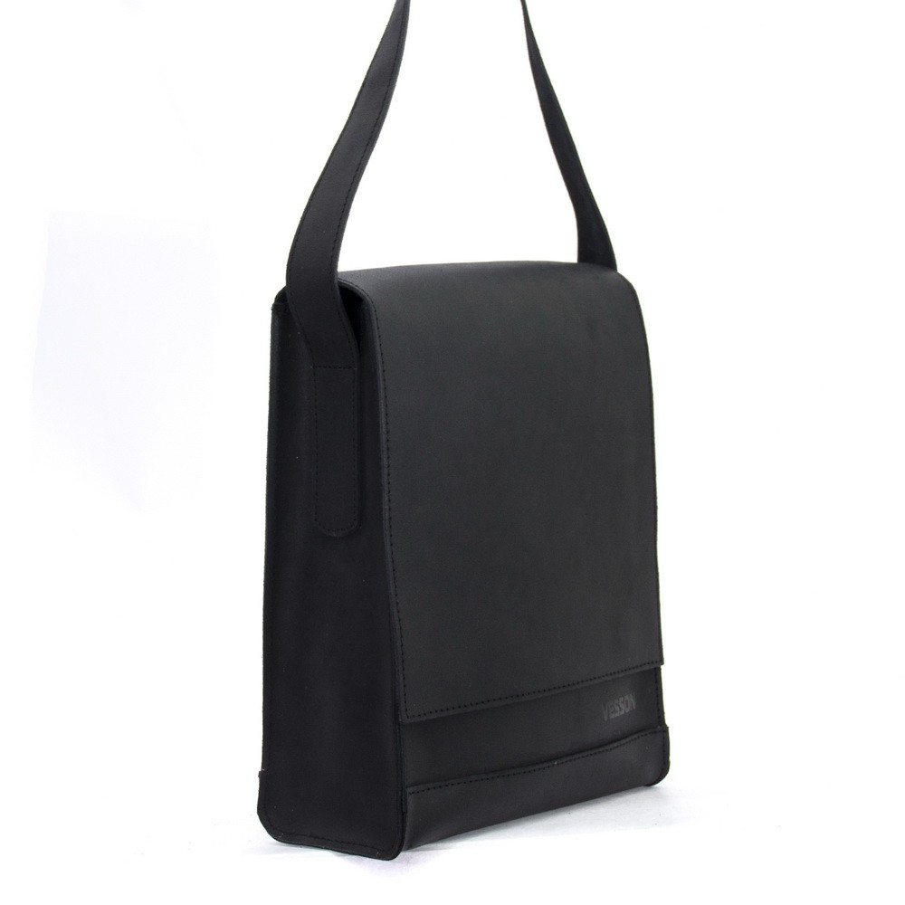 Мужская кожаная сумка 4253 черная