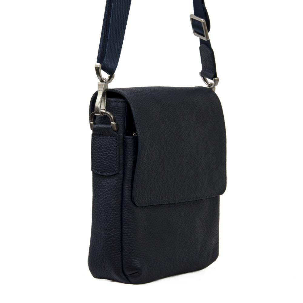 Мужская кожаная сумка 4103 синяя