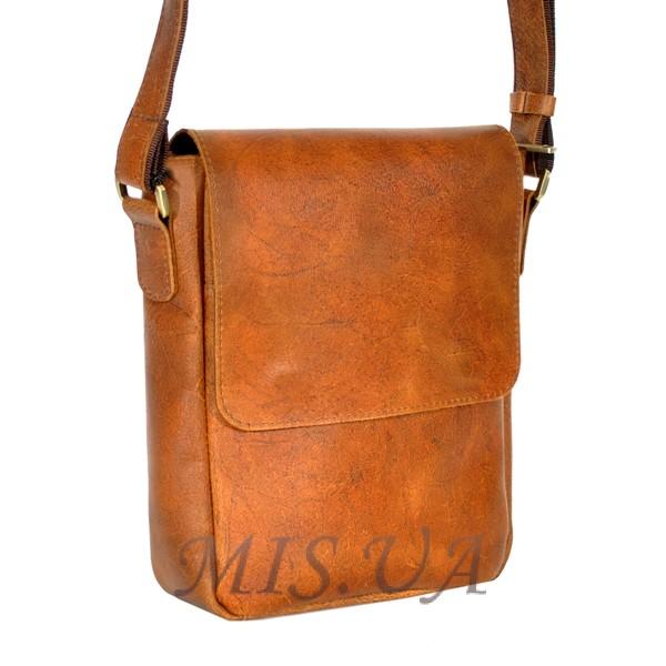 Men's leather bag 4392 orange