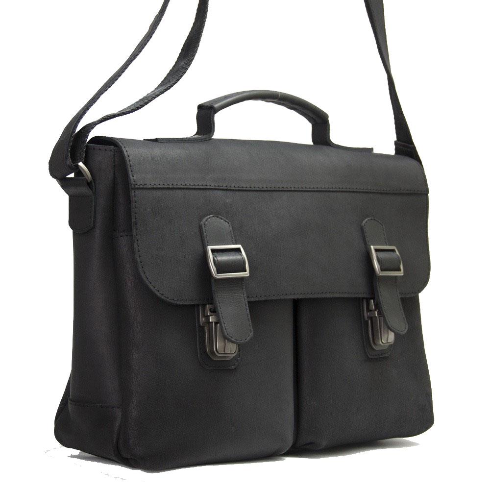 Мужской кожаный портфель 4227 черный