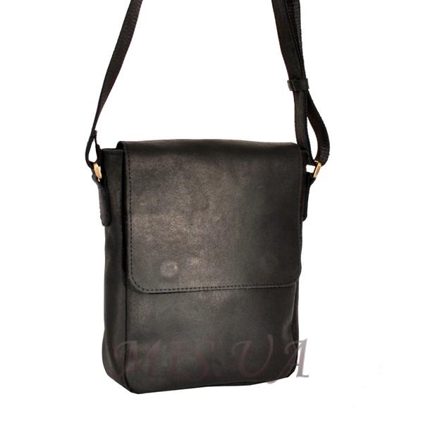 Мужская кожаная сумка 4392 черная