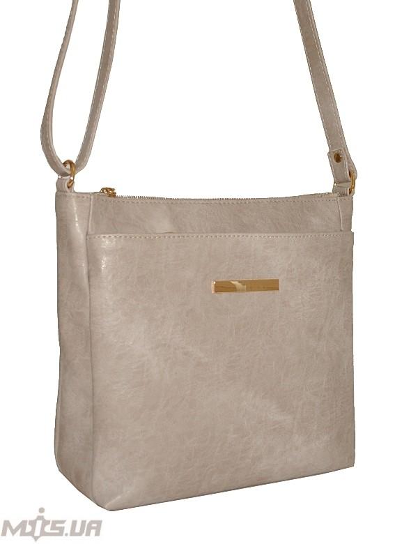 Женская сумка 35452 бежево-серая