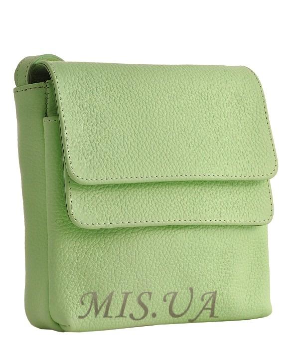 Женская  кожаная сумка МІС 2485 мятная