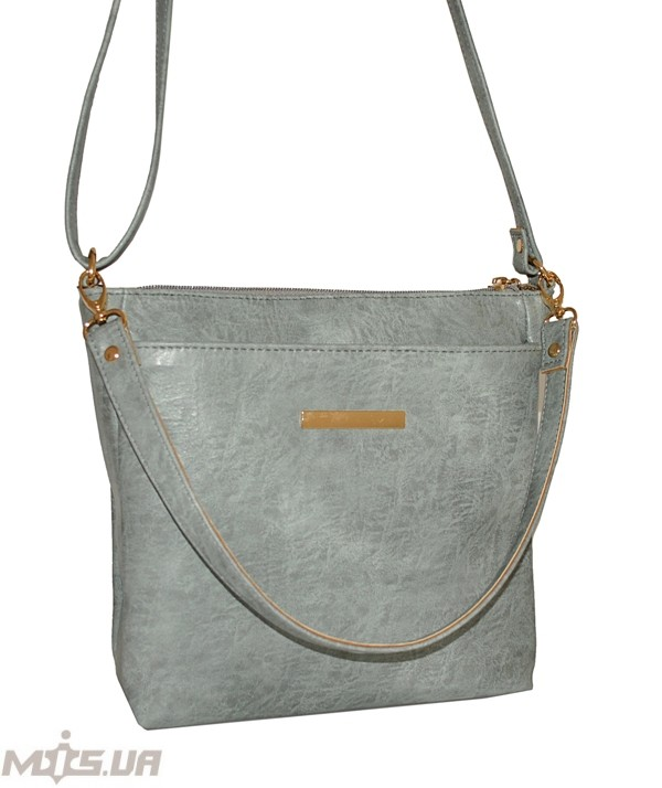 Женская сумка 35452 мьятно-серая