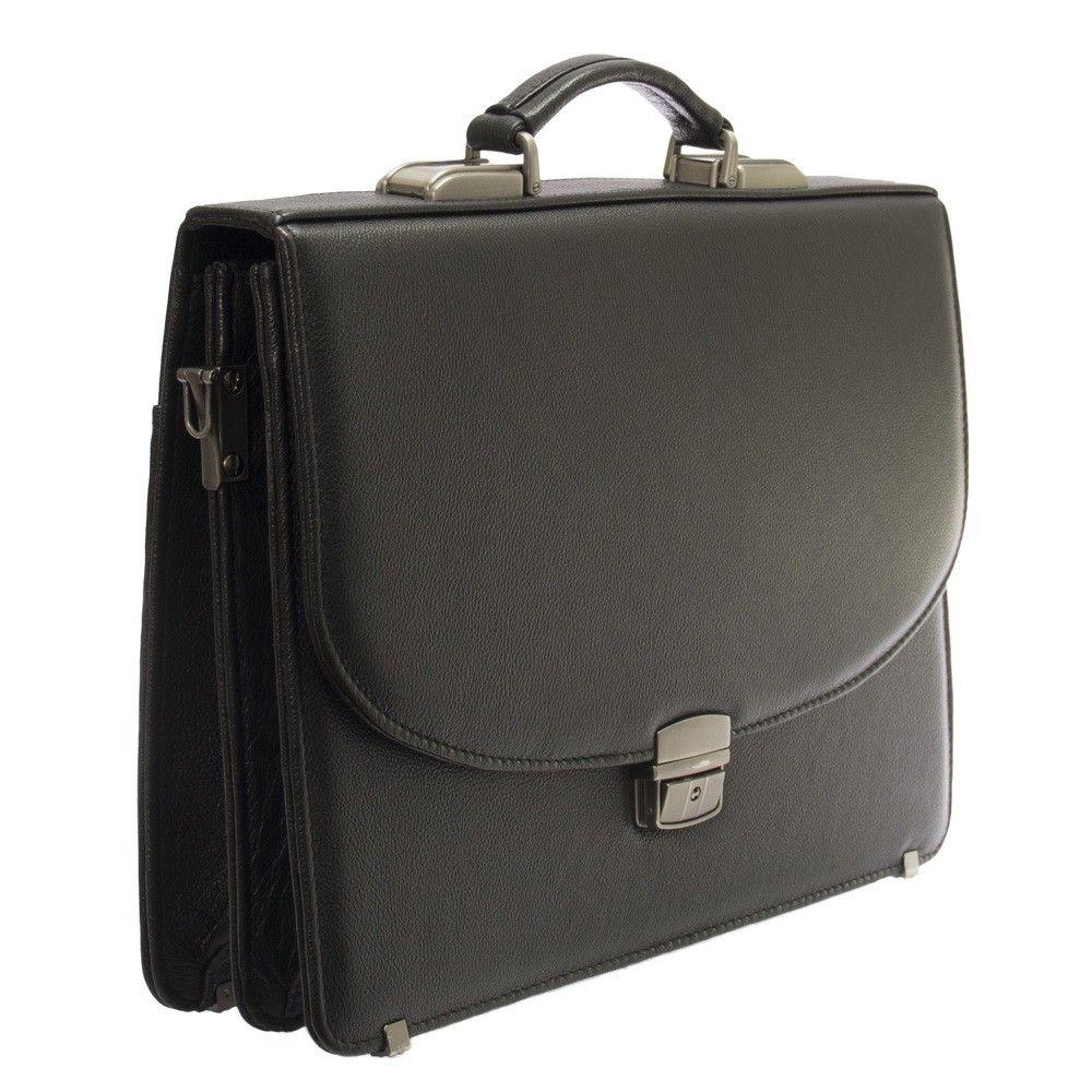 Мужской кожаный портфель 472 черный