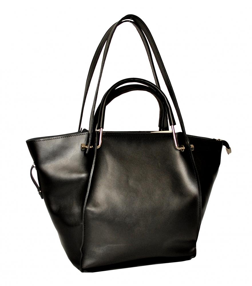Купить черную кожаную женскую сумку 2529 c доставкой по Украине ... 16152f14edd