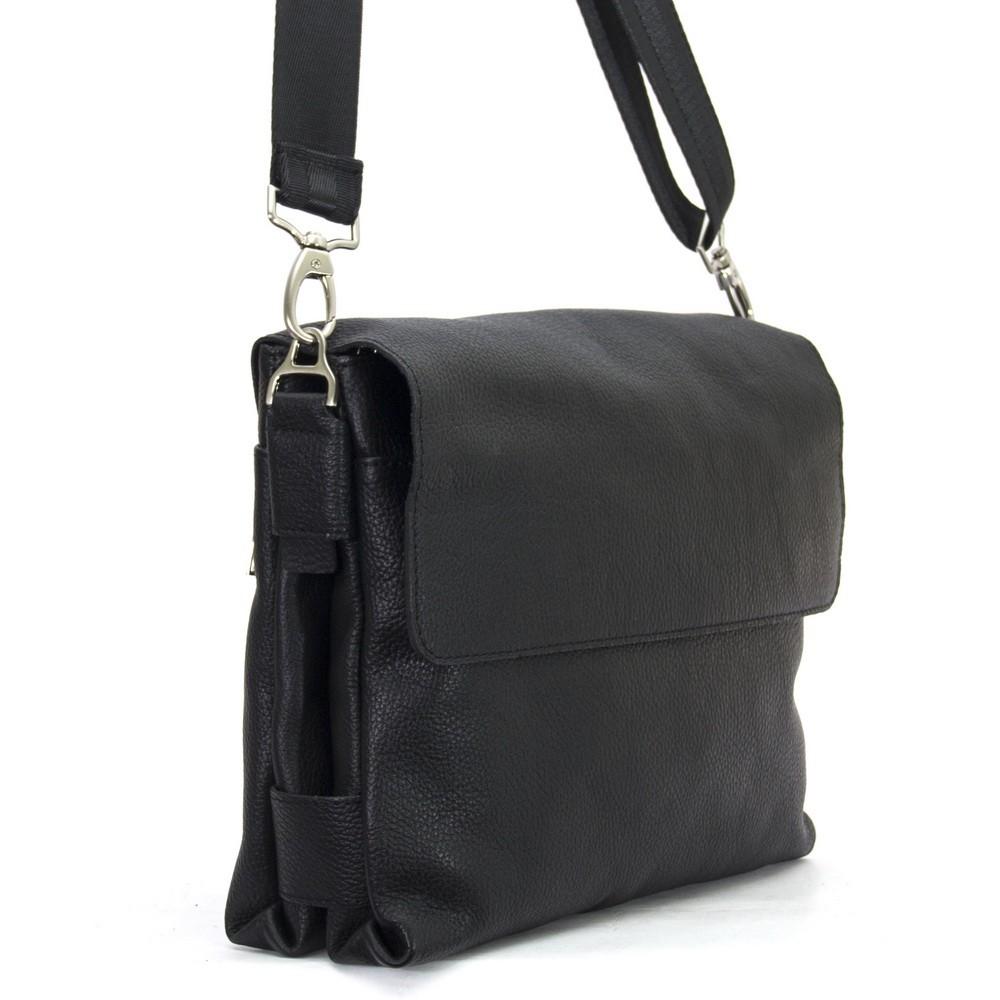 Мужской портфель из натуральной кожи Vesson 4202 черный