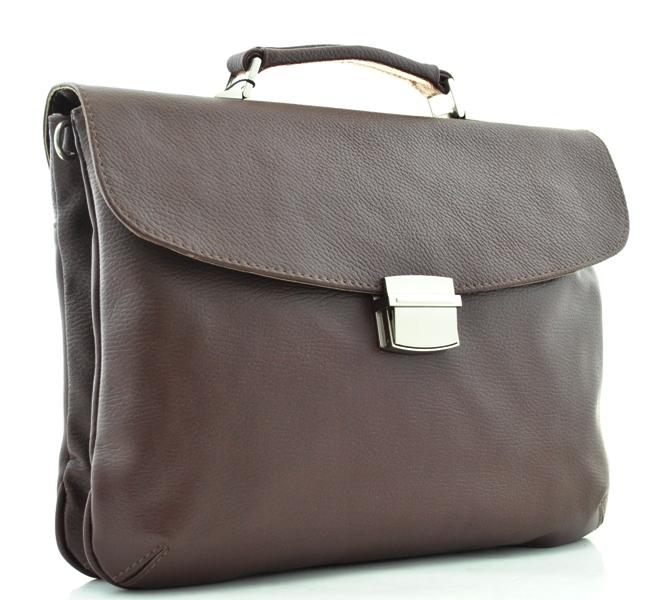 Кожаный портфель 74482 бордовый