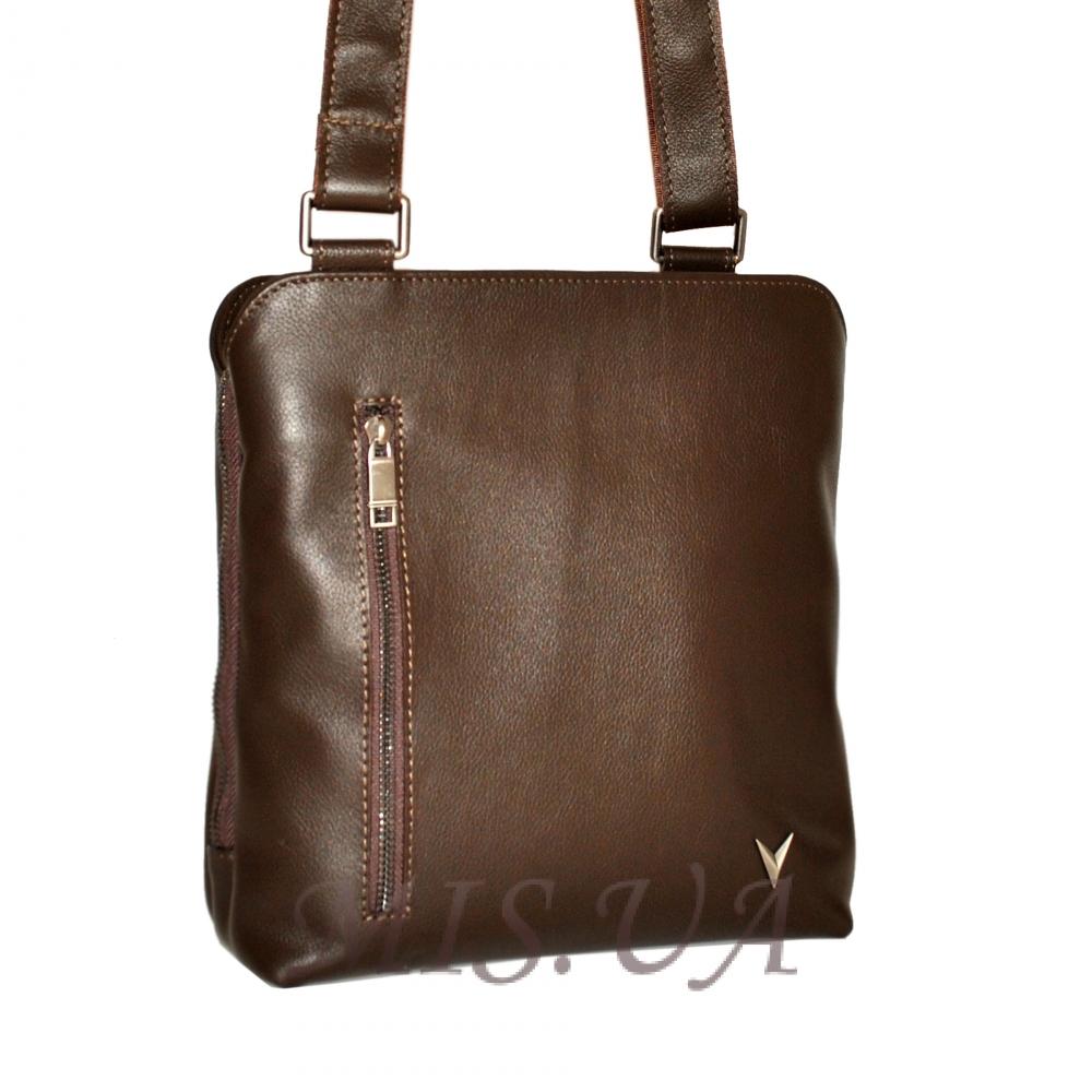 Men's leather handbag 4323 is brown