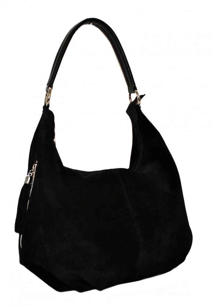 3a76338c7a09 Купить замшевую черную женскую сумку 0655 c доставкой по Украине ...