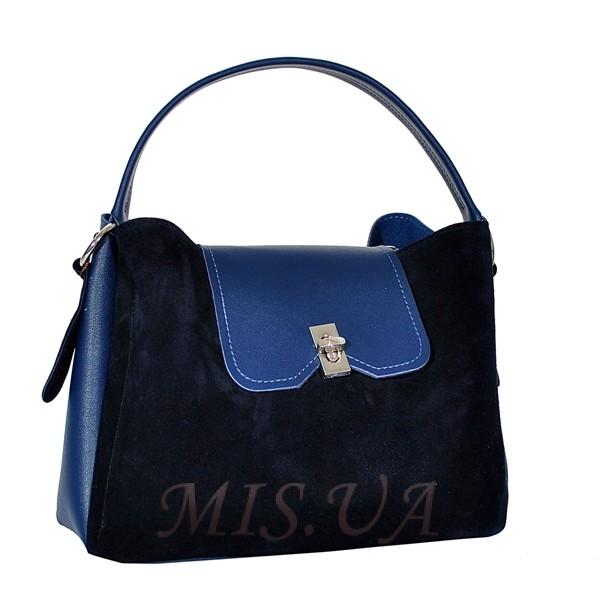 Женская замшевая сумка MIC 0703 синяя