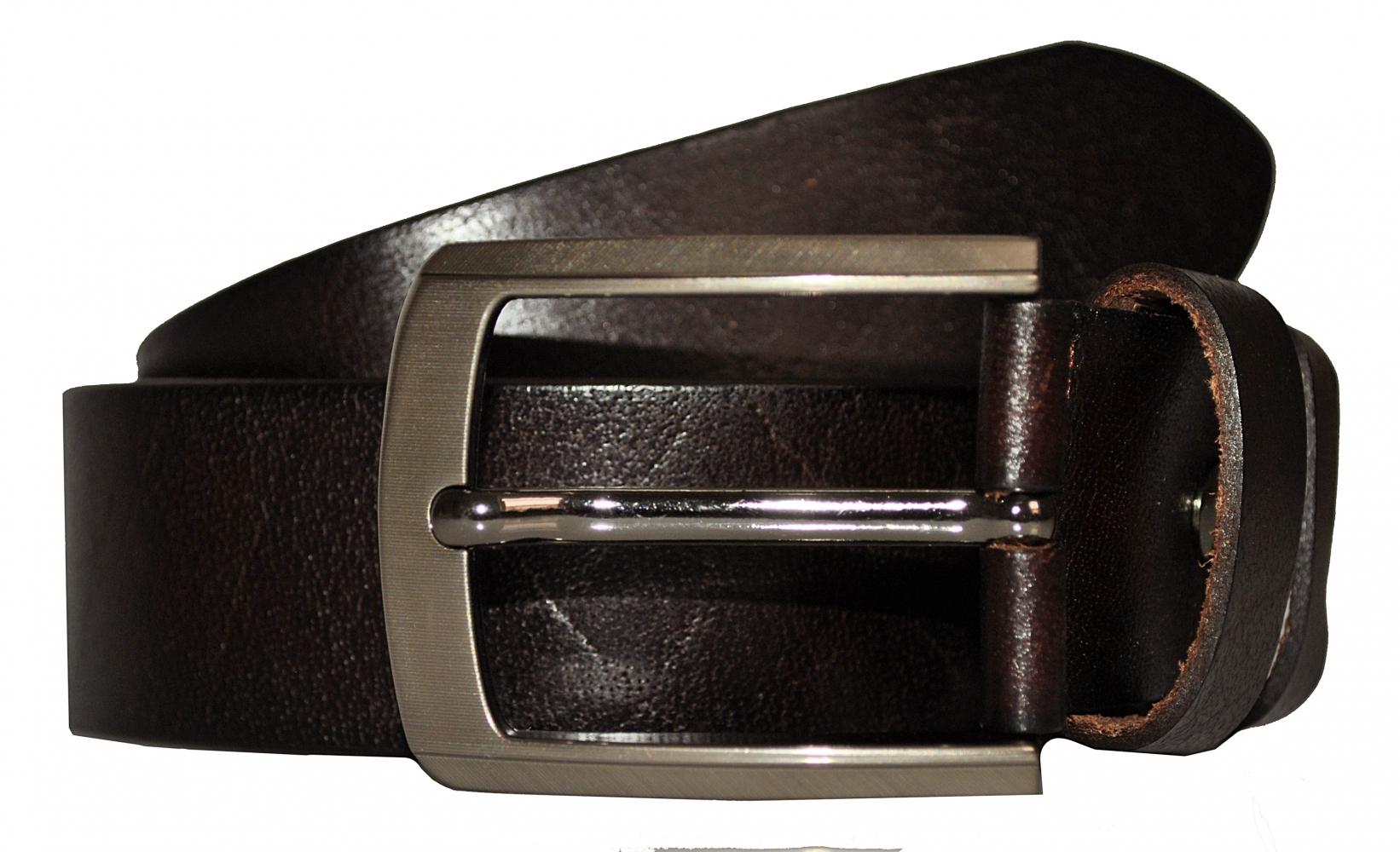Мужской ремень 16667 темно-коричневый