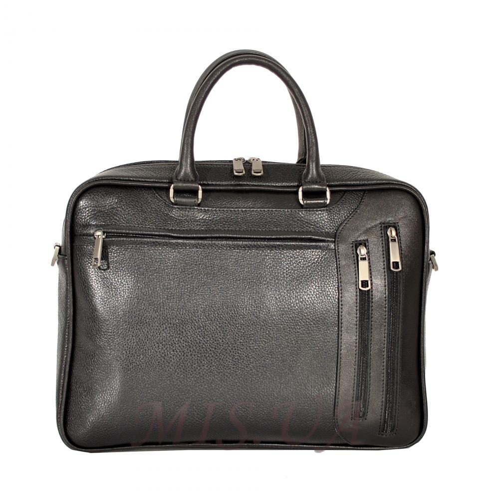 Мужской кожаный портфель 4503 черный