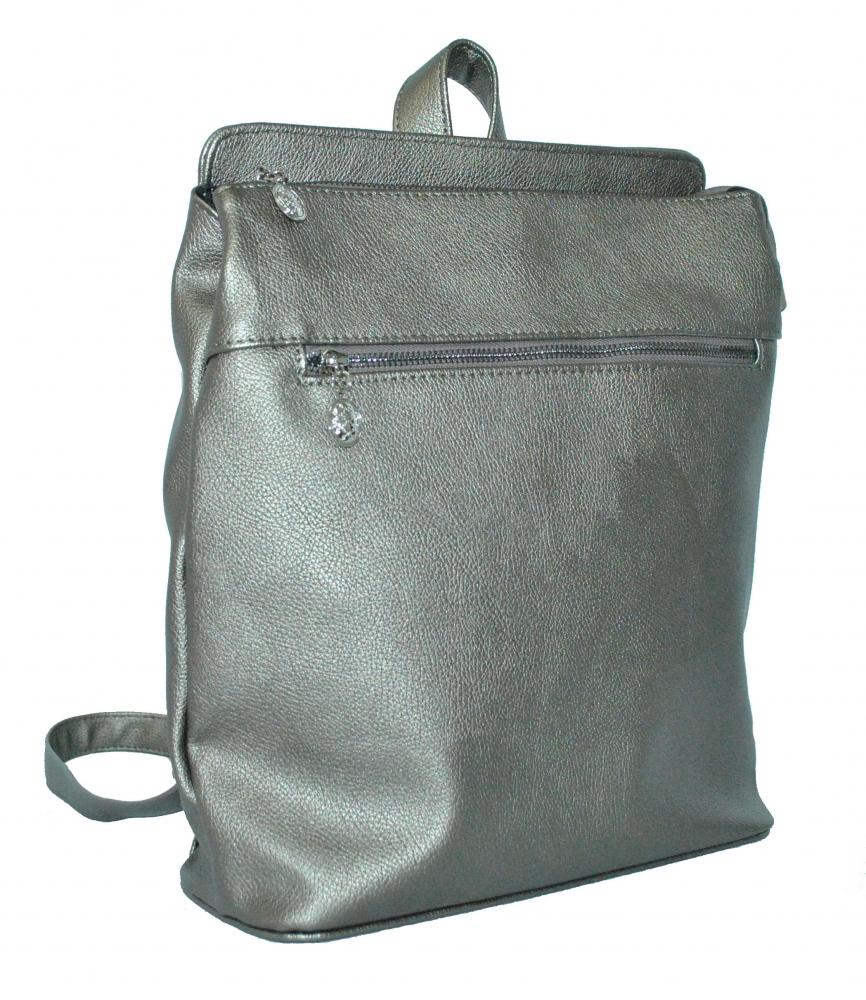 Женский рюкзак 35332 серебристый