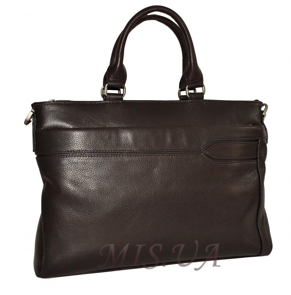Мужской кожаный портфель 4507 темно - коричневый