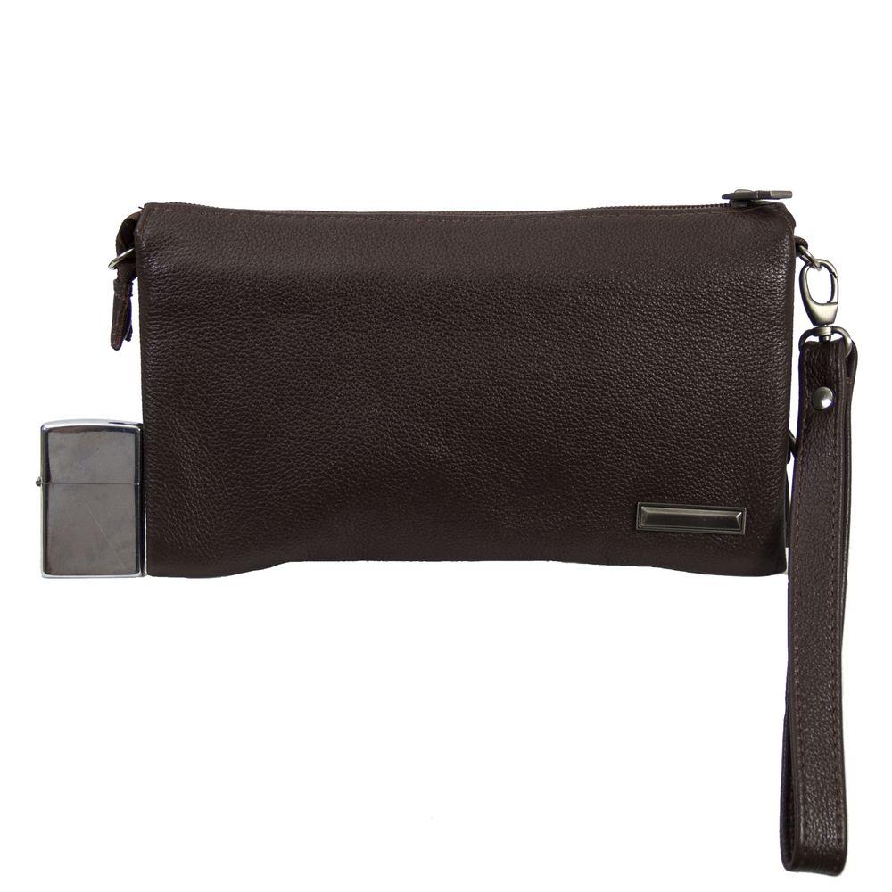 Мужская кожаная сумка 4203 коричневая