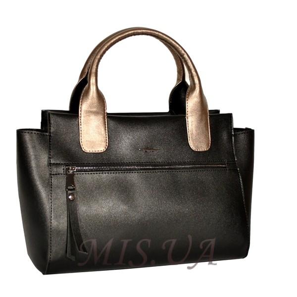 Женская сумка 35646 черная комбинированнная 4