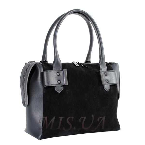 Женская замшевая сумка МІС 0714 черная