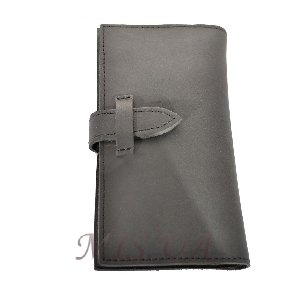 Мужской кожаный кошелек 4383 черный