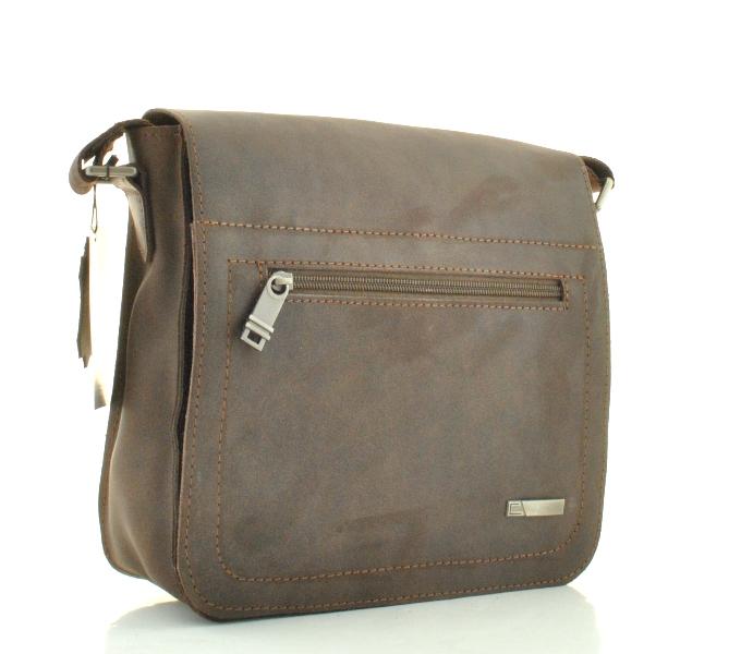 Мужская кожаная сумка 4234 коричневая