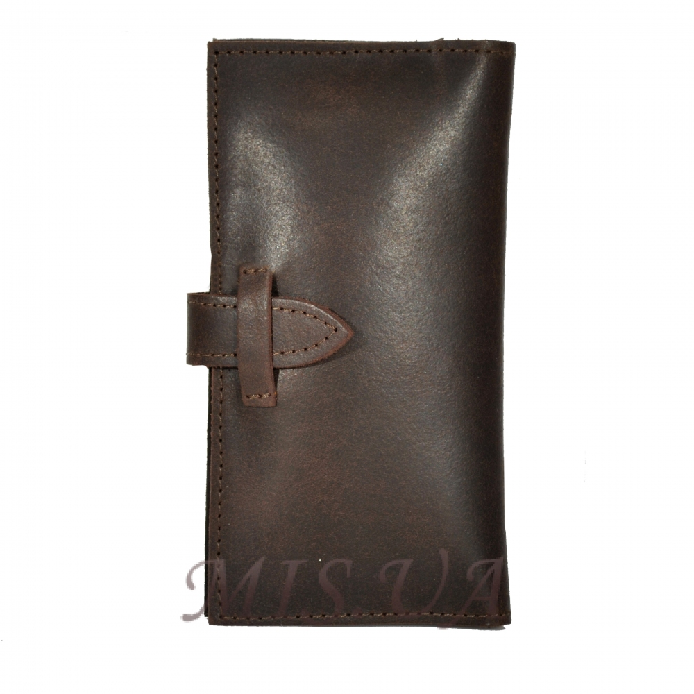 Мужской кожаный кошелек 4383 коричневый