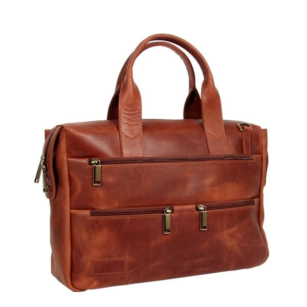 Мужской кожаный портфель Vesson 4631 рыжий