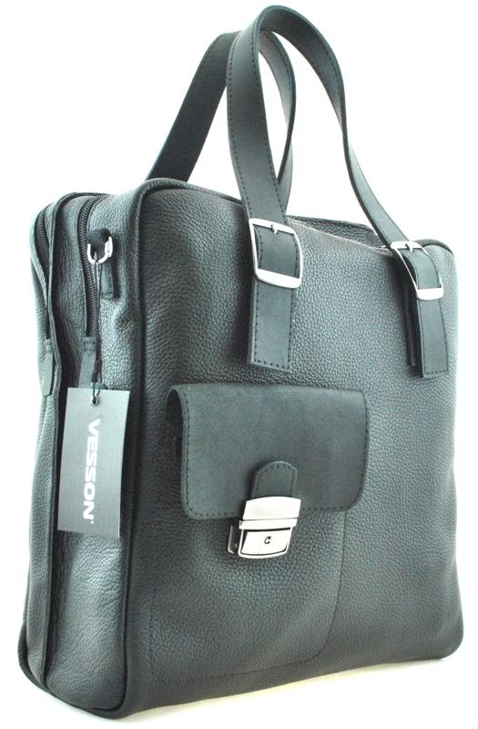 Мужской мягкий портфель 4326 черный