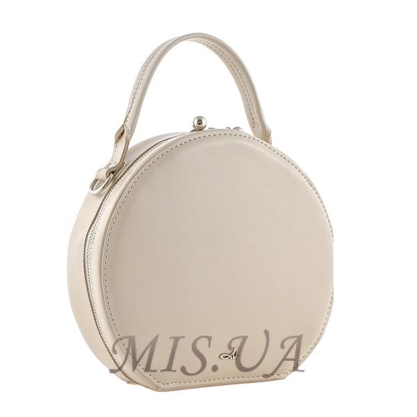 Жіноча кругла сумка МІС 35716 бежева