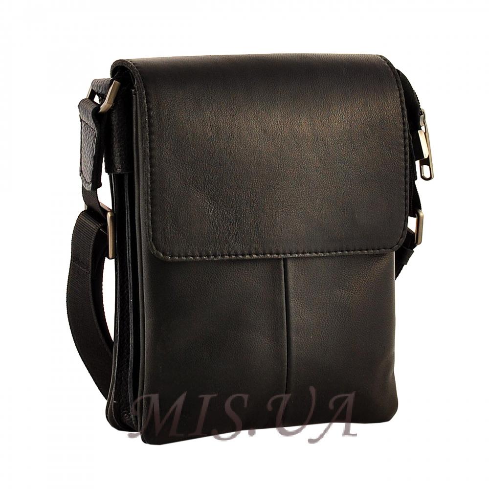 Мужская сумка из натуральной кожи Vesson 4532 черная