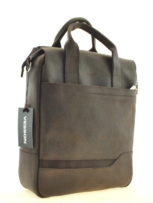 Мужской портфель 4274 коричневый матовый