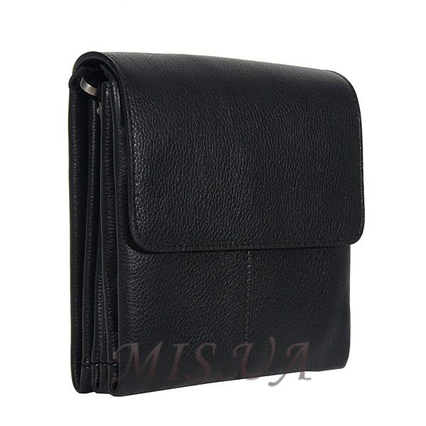 Мужская кожаная сумка Vesson 4523 черная